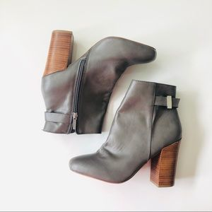 Express Grey heeled ankle boots